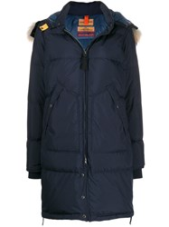 Parajumpers Padded Parka With Removable Hood Blue