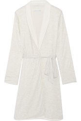 Alpine Reversible Melange Jersey And Fleece Robe Eberjey