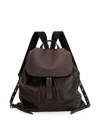 Bottega Veneta Black Woven Backpack Gray