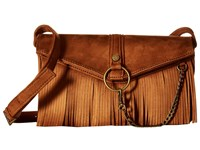 Steve Madden Bdalenna Flap Fringe Crossbody Chestnut Cross Body Handbags Brown