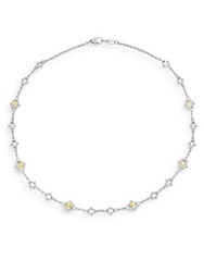 Judith Ripka Calypso Canary Crystal And Sterling Silver Necklace