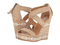 Not Rated Remi Cream Super Soft Leather Women's Wedge Shoes Beige