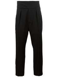 Ann Demeulemeester Tailored Drop Crotch Trousers Black