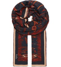 Lala Berlin Masiar Modal Scarf Stretched Paisley Multi