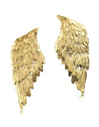 Bernard Delettrez Bronze Wings Earrings