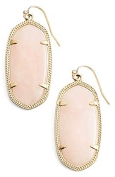 Women's Kendra Scott 'Elle' Drop Earrings Gold Rose Quartz