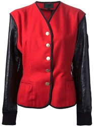 Jean Paul Gaultier Vintage Colour Block Jacket Red