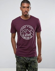 Poler T Shirt With Camp Vibes Logo Purple