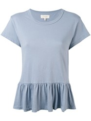 The Great Peplum T Shirt Women Cotton Xs Blue