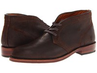 Frye Walter Chukka Dark Brown Waxed Suede Men's Lace Up Casual Shoes