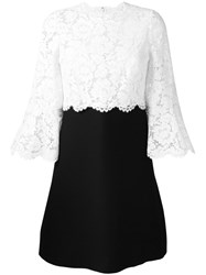 Valentino Lace Crepe Couture Dress White