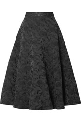 Co Embroidered Twill Midi Skirt Black