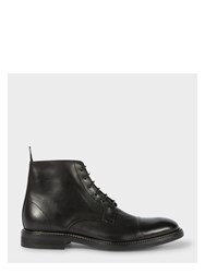 Paul Smith Men's Dip Dyed Black Calf Leather 'Jarman' Boots