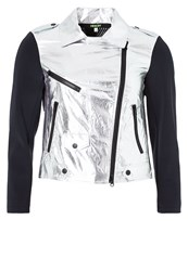 Rebecca Minkoff Wes Tracksuit Top Silver
