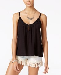 Roxy Juniors' Perpetual Dream Cotton V Neck Tank Top Anthracite