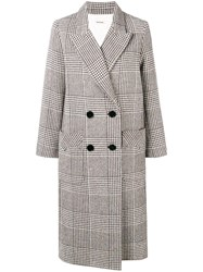 Zadig And Voltaire Mask Fantaisie Double Breasted Coat Brown