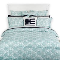 Lexington Printed Sateen Duvet Cover Green Double