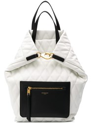 Givenchy Duo Llg Losange Quilted Backpack White