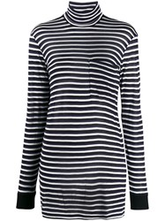 8Pm Long Striped Roll Neck Top 60