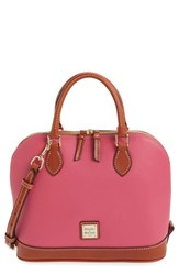 Dooney And Bourke 'Pebble Grain Collection' Water Repellent Leather Zip Satchel Pink Hot Pink