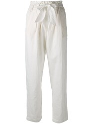 Forte Forte Slouch Trousers Women Cotton Linen Flax Iii White