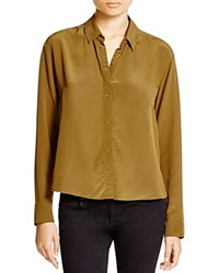 French Connection Super Silk Shirt Turtle
