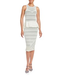 Rachel Roy Peplum Midi Dress White