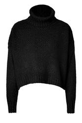 Tara Jarmon Metallic Wool Blend Turtleneck Pullover
