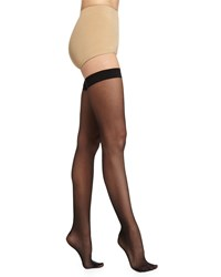 Wolford Love Is Enough Thigh High Stay Ups Black