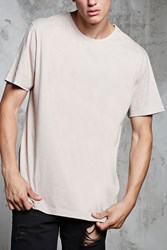 Forever 21 Vented Heathered Tee Taupe