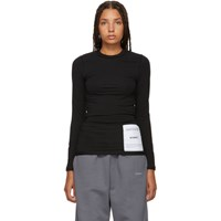 Vetements Black Fitted Inside Out Long Sleeve T Shirt