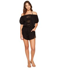 Vitamin A Marmont Romper Cover Up Black Gold Coast Cotton Voile Women's Jumpsuit And Rompers One Piece