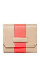 Liebeskind Elke Striped Leather Wallet Beige