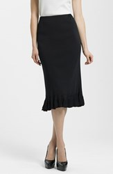Ming Wang Women's Ruffle Hem Knit Midi Skirt