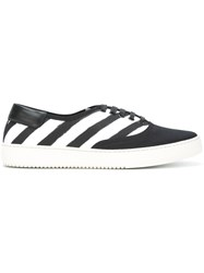Off White Striped Sneakers Black