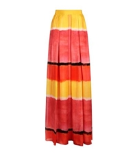 Alberta Ferretti Striped Chiffon Maxi Skirt