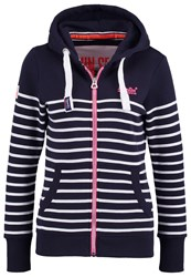 Superdry Sun And Sea Tracksuit Top Navy White Dark Blue