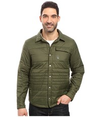 Spyder Kerb Shirt Jack Insulator Jacket Albion Green Polar Men's Coat