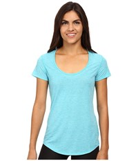 Lucy S S Workout Tee Crystal Pond Heather Women's Workout