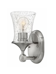 Hinkley Thistledown 1 Light Bath Wall Sconce Silver