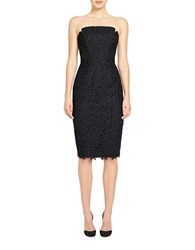 Jill Stuart Harlow Tea Length Dress Black