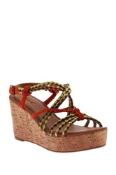 Nicole Across Printed Wedge Red