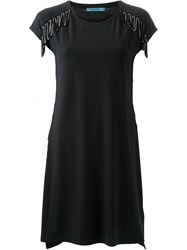Guild Prime Fringe Detail T Shirt Dress Black