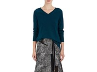 Tomas Maier Women's Wrap Back Cashmere Sweater Turquoise