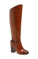 Women's Vince Camuto 'Sidney' Riding Boot Warm Brown Leather Wide Calf