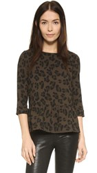 Essentiel Kashimi Top Green Leopard