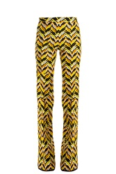 Giambattista Valli Chevron Woven Trousers Yellow