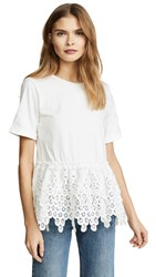 Endless Rose Lace Tee White