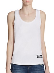 Eleven Paris Abstract Print Moss Tank Top