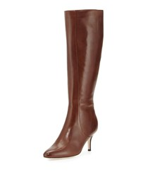 Carlyle Leather Knee Boot Chestnut Cole Haan Brown